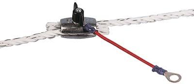 Zaun-Anschlußkabel, rot für Seil