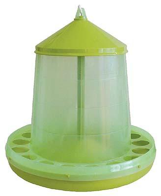 222-120 Geflügelfutterautomat transparent lemongrün 12 kg