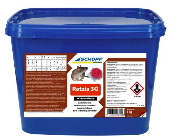 Ratzia 3G Weizenköder 3 kg ( Mäuse- und Rattenköder)