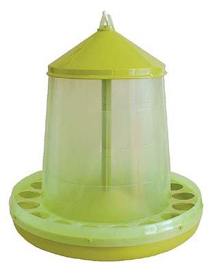 222-160 Geflügelfutterautomat transparent lemongrün 16 kg