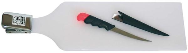 Fisch-Filetierbrett mit Filetiermesser 15 cm