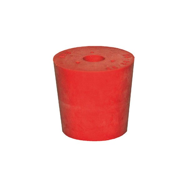 Gummistopfen rot mit 10 mm Loch