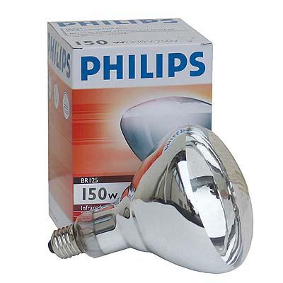 198 Weißlicht-Infrarotstrahler Philipps 150 Watt