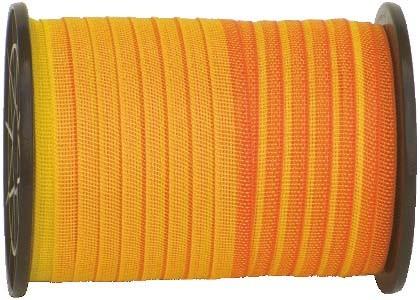 Weidezaunband 20 mm, gelb/orange, 200 m