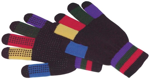 Grippy-Stretchhandschuhe multicolor