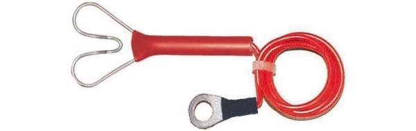 Zaun-Anschlußkabel, rot, Herzanschluß/Öse