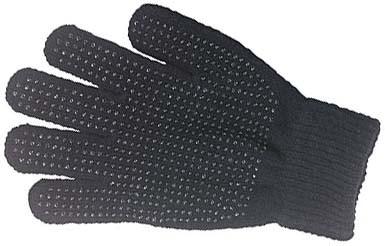 Grippy-Stretchhandschuhe schwarz