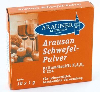 Arausan Schwefelpulver 10 x 1 g