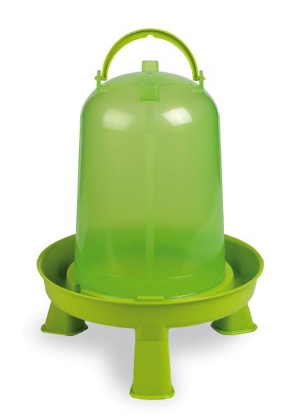 Stülptränke transparent lemongrün mit Füße, 10 Liter
