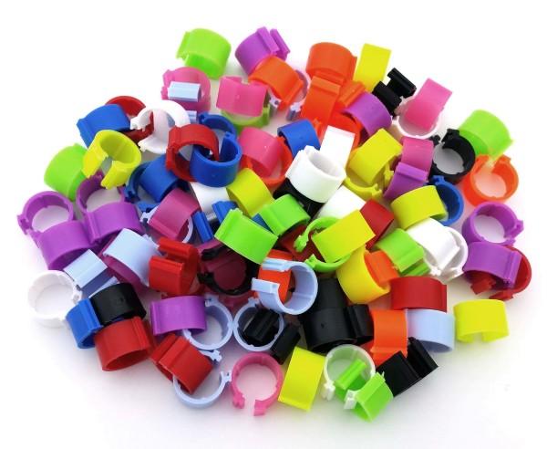 Clipsringe 8 mm, 100 Stück in 10 Farben