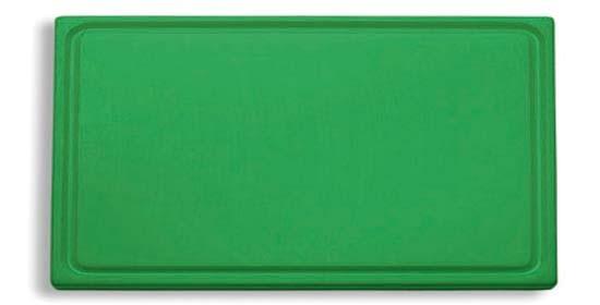 Dick-Kunststoff-Schneidbrett 53,0 x 32,5 cm, grün
