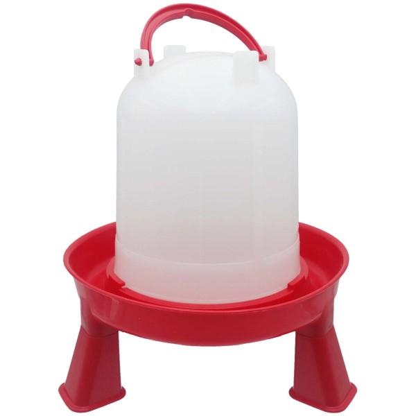 Stülptränke weiß/rot mit Fuß, 1,5 Liter