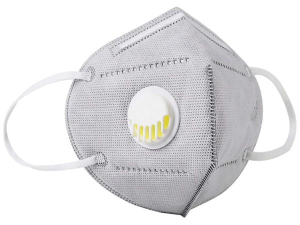 Mund-Nasen-Schutz (Hygienemaske) mit Ventil, grau