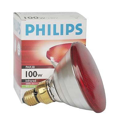 157 Infrarot-Sparlampe Philips 100 Watt