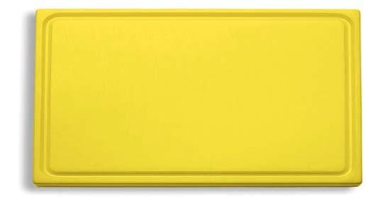 Dick-Kunststoff-Schneidbrett 53,0 x 32,5 cm, gelb