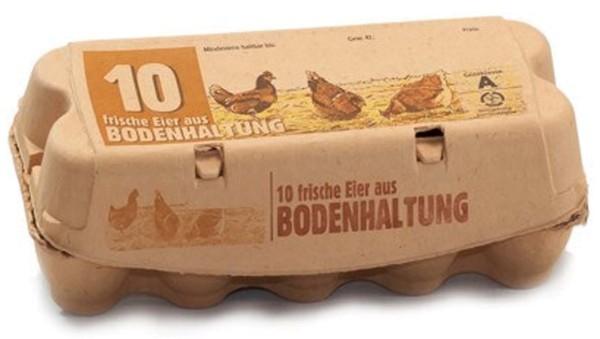 Eierverpackung / Eierschachtel (Bodenhaltung)