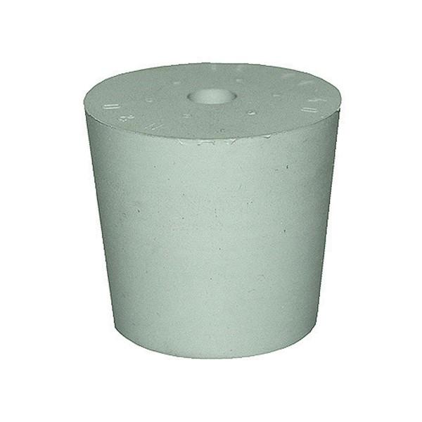Gummistopfen grau mit 8 mm Loch