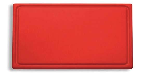 Dick-Kunststoff-Schneidbrett 53,0 x 32,5 cm, rot