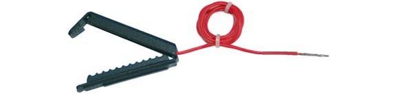 Zaun-Anschlußkabel, rot, Clip für Breitband