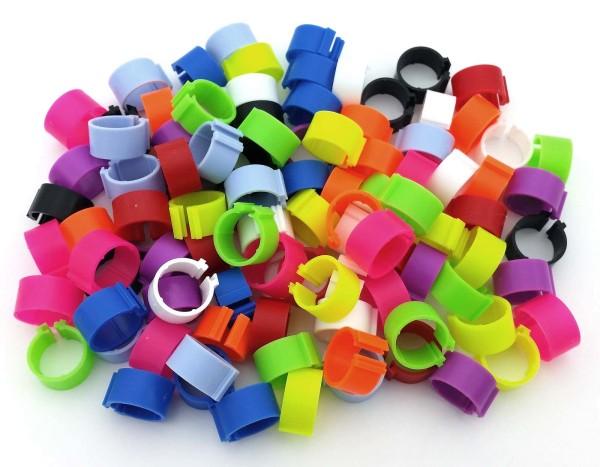 Clipsringe 12 mm, 100 Stück in 10 Farben