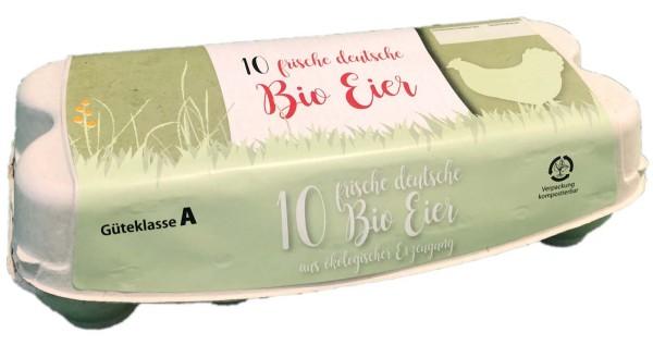 Eierverpackung / Eierschachtel (Biohaltung)