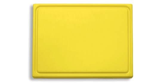 Dick-Kunststoff-Schneidbrett 26,5 x 32,5 cm, gelb